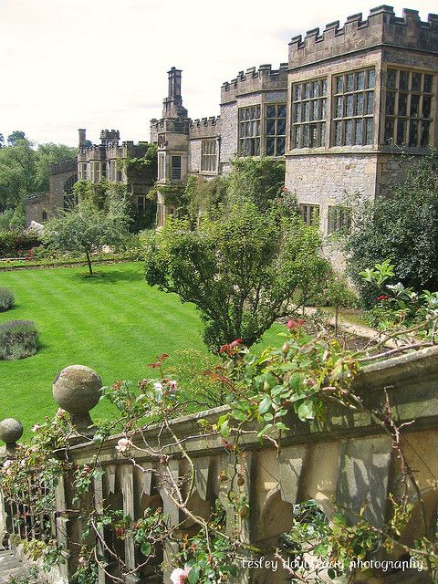 """Haddon Hall, Bakewell, Derbyshire.   Featured in many films including """"The Princess Bride"""", """"Elizabeth"""", """"Pride And Prejudice"""", and 3 separate versions of """"Jane Eyre""""."""