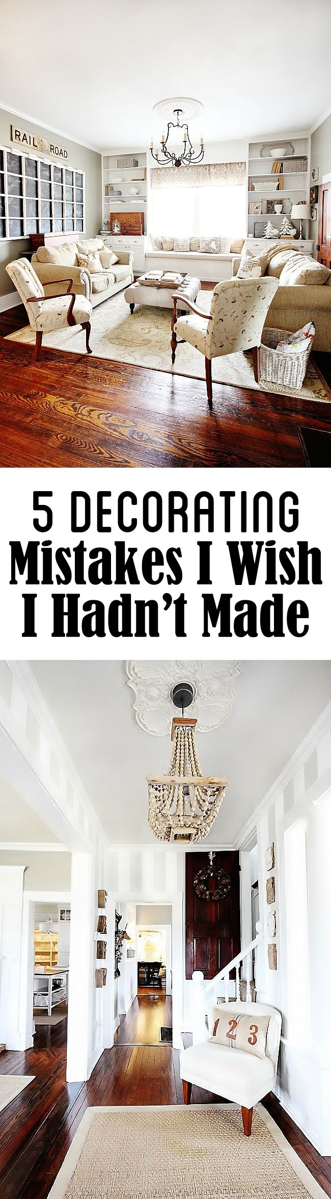 Before you start redecorating your room, take some advice from one of our favorite bloggers, Thistlewood Farms! She takes a look back on the five decorating mistakes she wishes she hadn't made, so that you don't have to do the same!