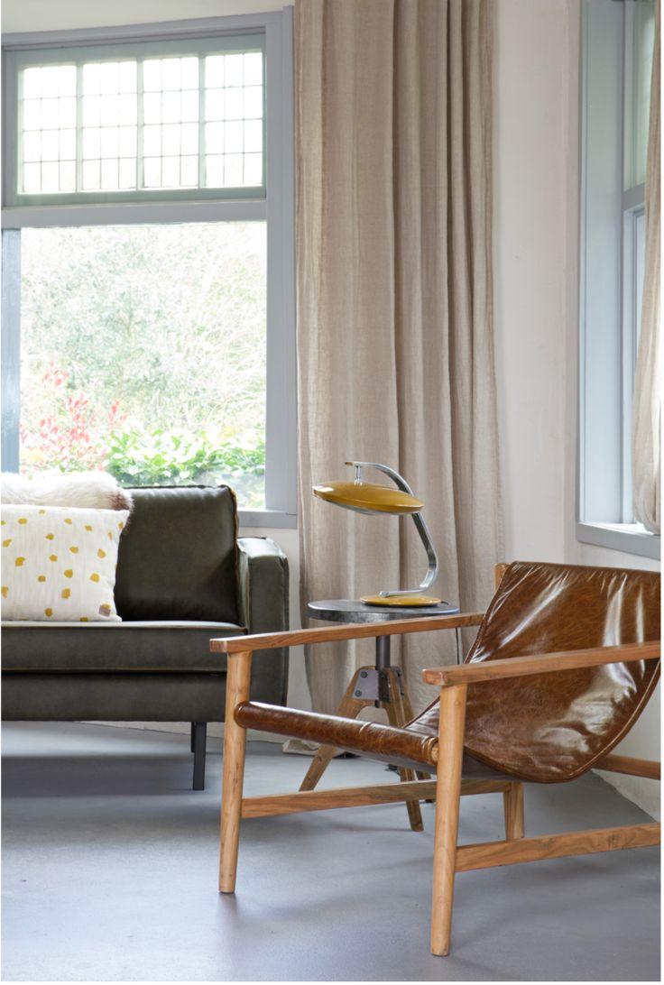 Wat een plaatje. Deze safari fauteuil past helemaal in de trend van nu. Sterker nog, volgens mij wordt deze leren beauty een echte tijdloze klassieker.