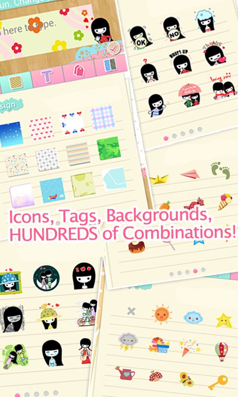 Icons, Tags, Backgrounds, Hundreds of combinations.