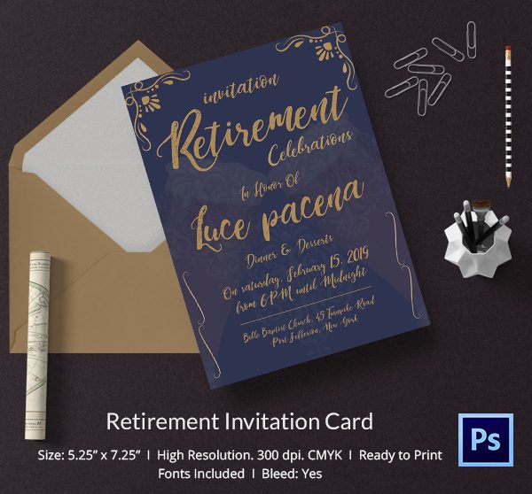 photo relating to Free Printable Retirement Invitations titled Cost-free Printable Retirement Occasion Invitation Template
