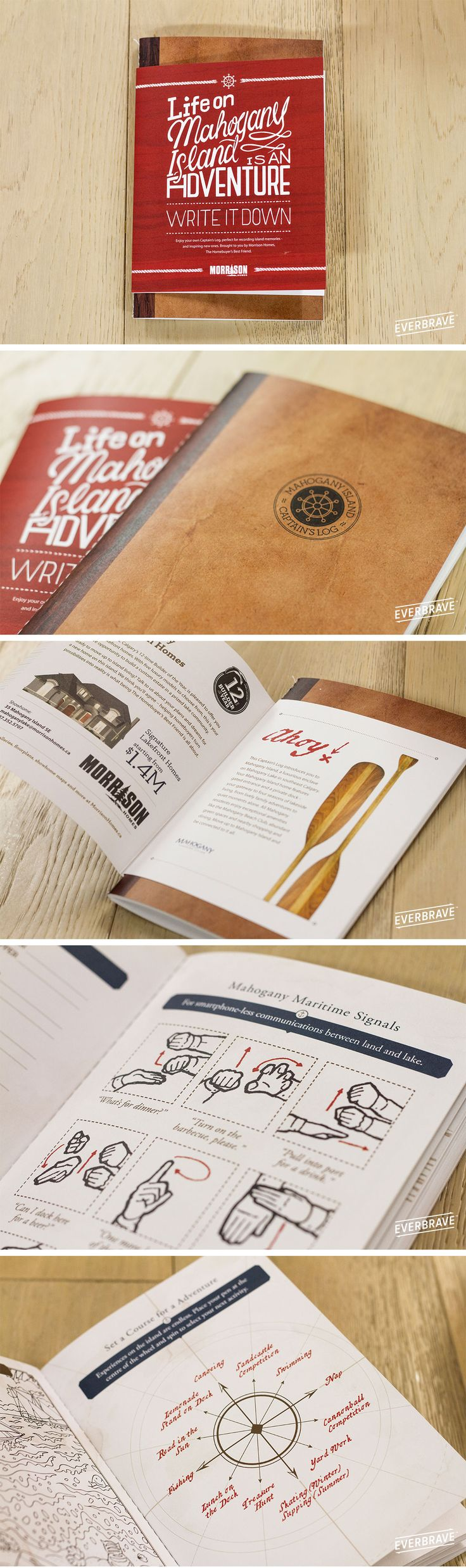 We created this fun Captain's Log Direct Mail with activities for our client.