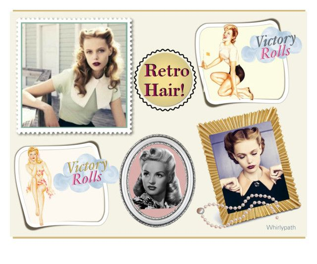 Victory Rolls Retro Hair! by whirlypath on Polyvore featuring beauty, L'Objet and vintage