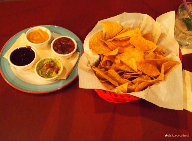 #bonn #tacos #nachos Vorspeisen-Nachos mit vier Dips im Tacos in der Bonner Innenstadt
