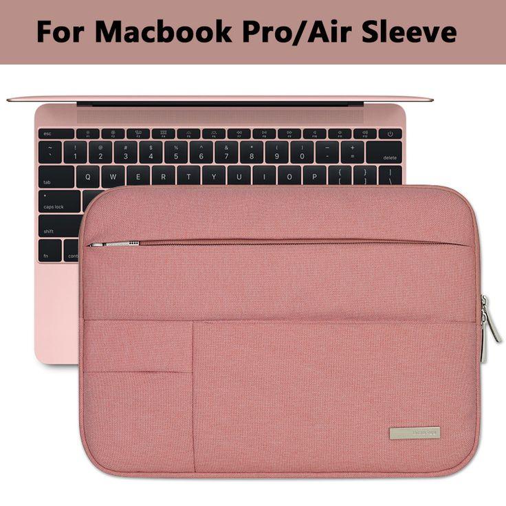 Funda para portátil multi bolsillo para macbook pro/air 11 12 13 14 15 pulgadas de Las Mujeres Portátil Bolso de la Caja Impermeable Para Mac 13.3 15.4 Barra Táctil