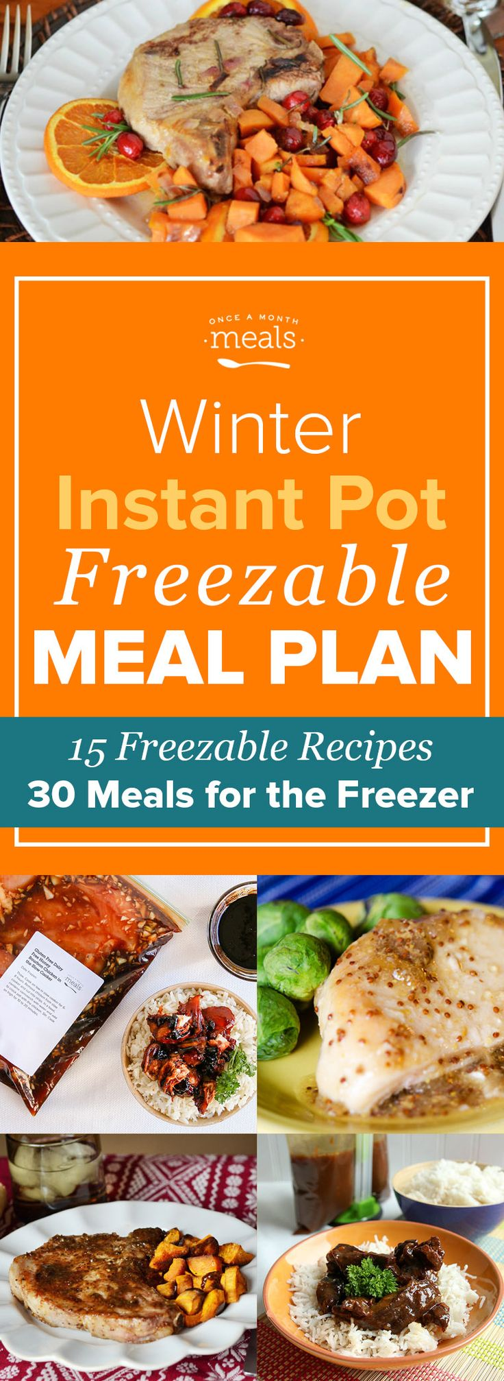 Make the most out of every minute you're cooking in the kitchen this season. From fall apart Instant Pot Tender Braised Short Ribs to bacon topped Instant Pot Jalapeno Popper Chicken Chili you can't go wrong with this freezer meal plan for 30 deliciously easy wintery meals, all made with your Instant Pot! via @onceamonthmeals