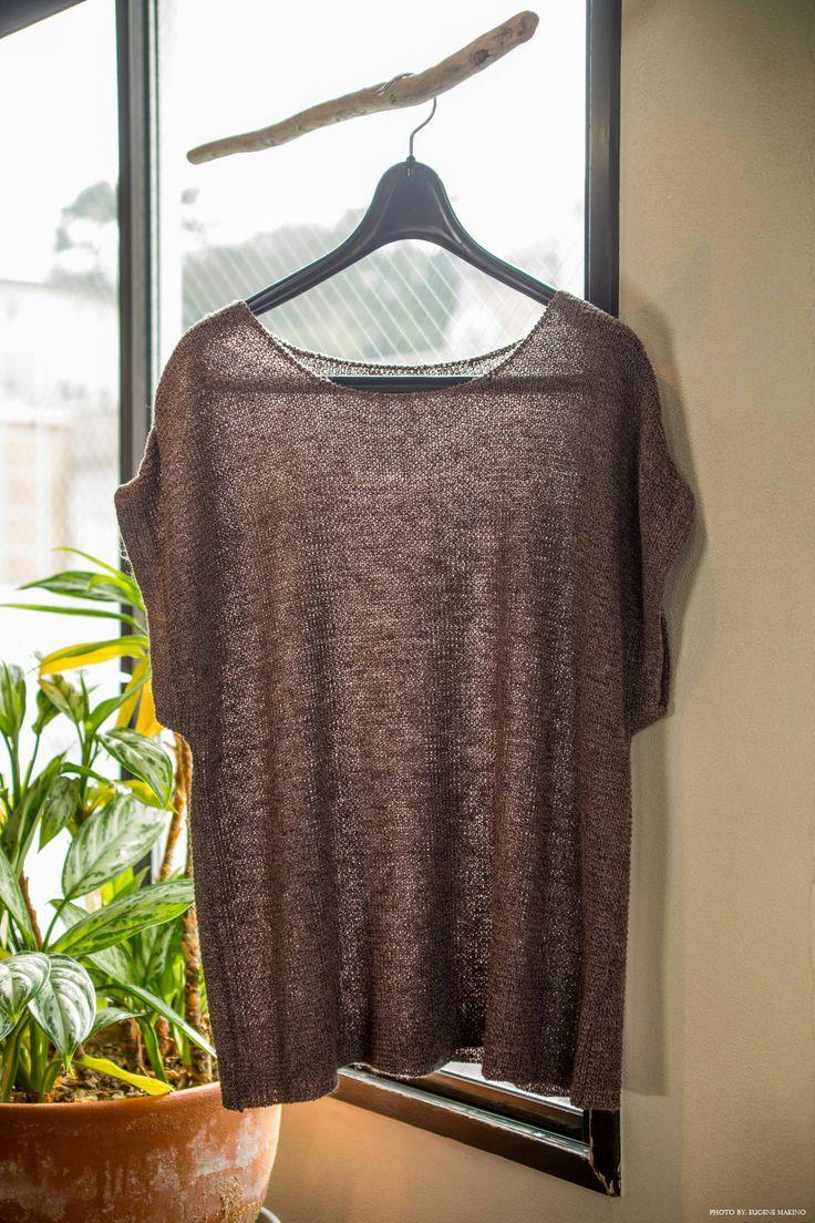 GRAPE Motomachi / Basic Linen Top #linen #basics #mauve #top #grapemotomachi