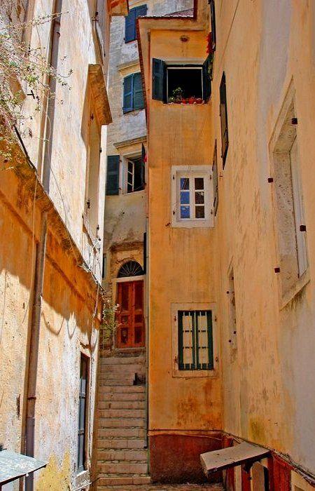 Old Town, Corfu Island, Greece #corfutown #travel #mezzomezzo #mezzomezzocorfu #architecture
