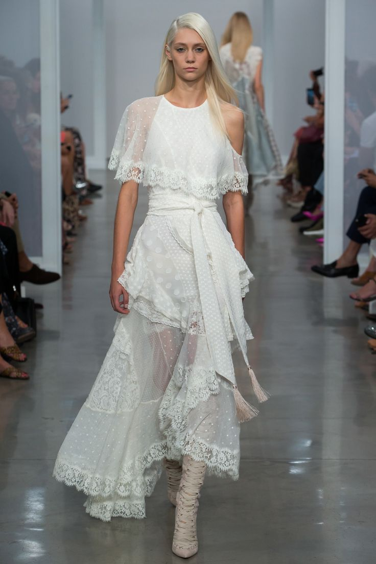 Zimmermann Spring 2017 Ready-to-Wear Fashion Show : cool boho chic wedding dress