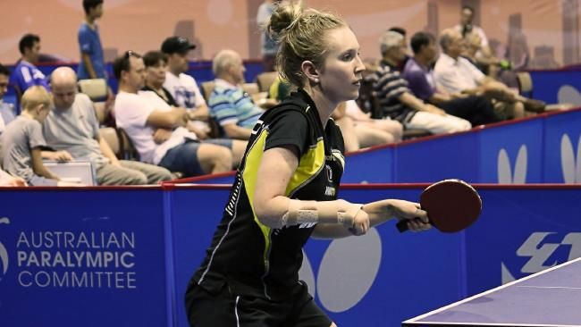 Table tennis star Melissa Tapper close to being Olympian and Paralympian | DailyTelegraph