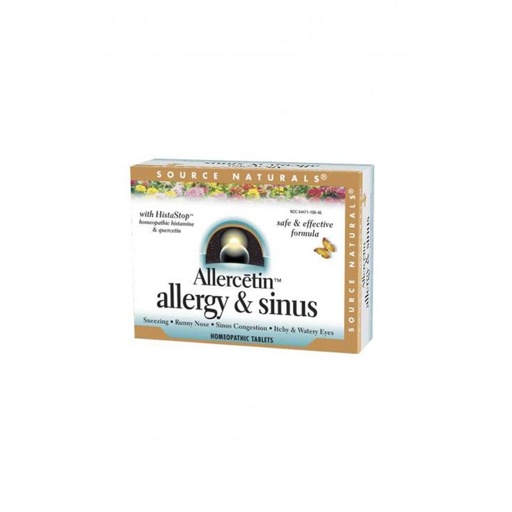 Source Naturals, Allercetin, Allergy & Sinus, 48 Homeopathic Tablets - iHerb.com