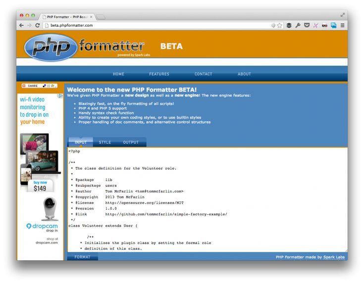 PHP Formatter