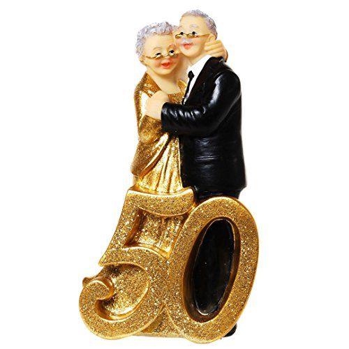 Tortenfigur Goldene Hochzeit Goldhochzeit 50 Jahre Paar Deko