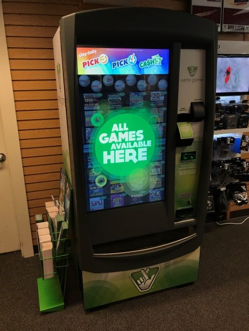 The General Store at Massanutten Resort just got our very own lottery machine, from the VA lottery!