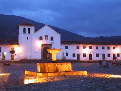 The colonial town Villa de Leyva, in Boyaca, center of Colombia.