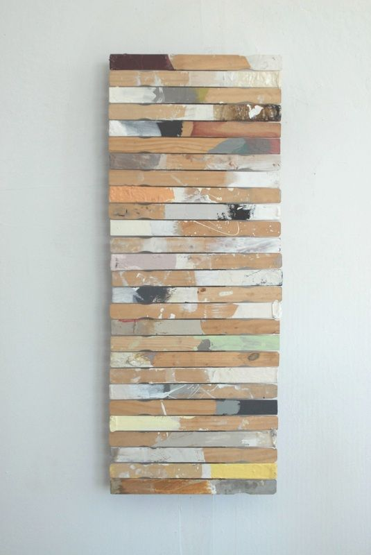 Wall art from paint stir sticks