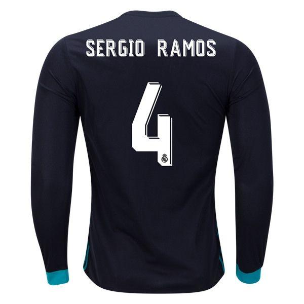 adidas Sergio Ramos Real Madrid Long Sleeve Away Jersey 17/18