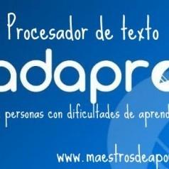 Adapro: procesador de texto para personas con dificultades de aprendizaje