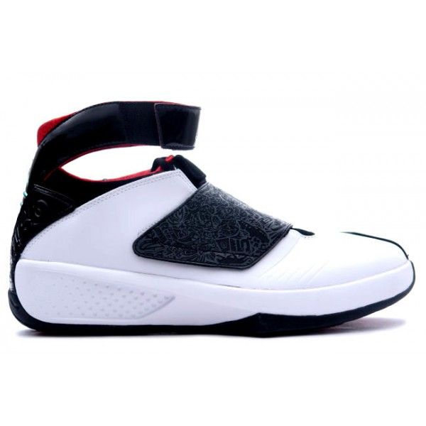 310455 101 Air Jordan 20 White / Black / Red http://www. Buy JordansJordans  SneakersNike ...