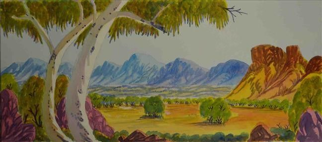 West MacDonnell Ranges, NT by Hilary Wirri