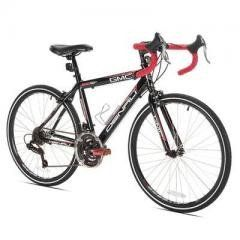 """24"""" Boys GMC Denali Bike Regular price$ 289.99 Add to Cart Kent Bicycles 24"""" Boys GMC Denali Bike  Finally, a road bike for smaller riders! The GMC Denali 24"""" Wheel 21-Speed Road Bike is built around a lightweight aluminum road bike frame. The Denali Road Bike is equipped with alloy calipers and brake levers. The high-profile alloy Vitesse racing rims look as good as they perform. Shimano Revo shifters allow you to shift without taking your hands off the handle bars providing safety and…"""
