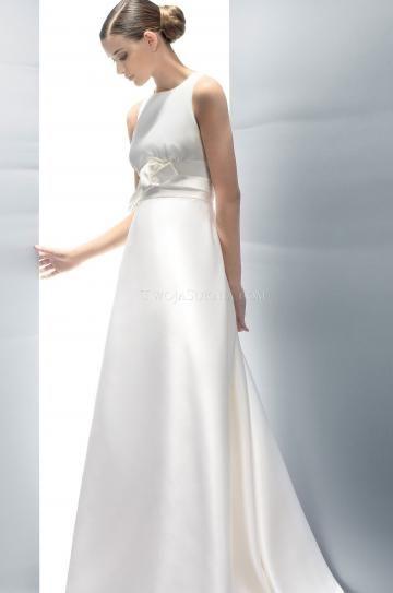 Áčkový střih Bez rukávů Přírodní Svatební šaty 2014