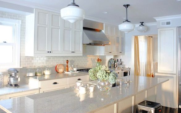 Best 33 Best Images About White Kitchen Cabinets Gray Tile 400 x 300