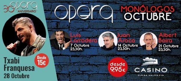 Programación de monólogos de Ópera y Casino Cirsa Valencia - http://www.valenciablog.com/programacion-de-monologos-de-opera-y-casino-cirsa-valencia/