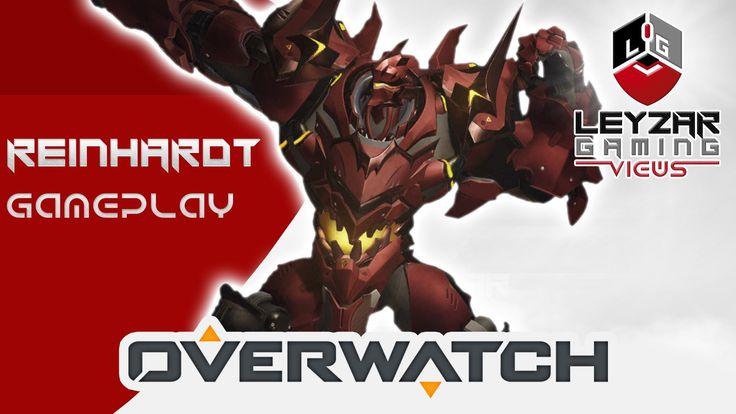 Overwatch Gameplay - Reinhardt Bloodhardt Skin (Watchpoint Gibraltar Gam...