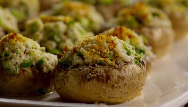 Ricette e Segreti in Cucina : Funghi al forno con ripieno di polpa di granchio
