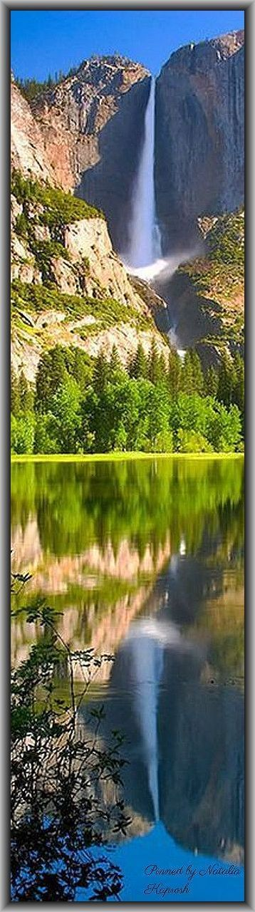 Yosemite National Park YNP - California - USA America  - AMAZING Waterfall / Nature #quelle: http://www.greatbigcanvas.com/ + https://www.pinterest.com/pin/347832771205857007/  +  https://www.pinterest.com/pin/281897257905007839/