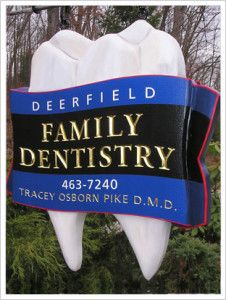 This Amazing Family Dental Office Sign Is Composed Of One Large Sculpted Molar Together With A Dimensional Banner Around It