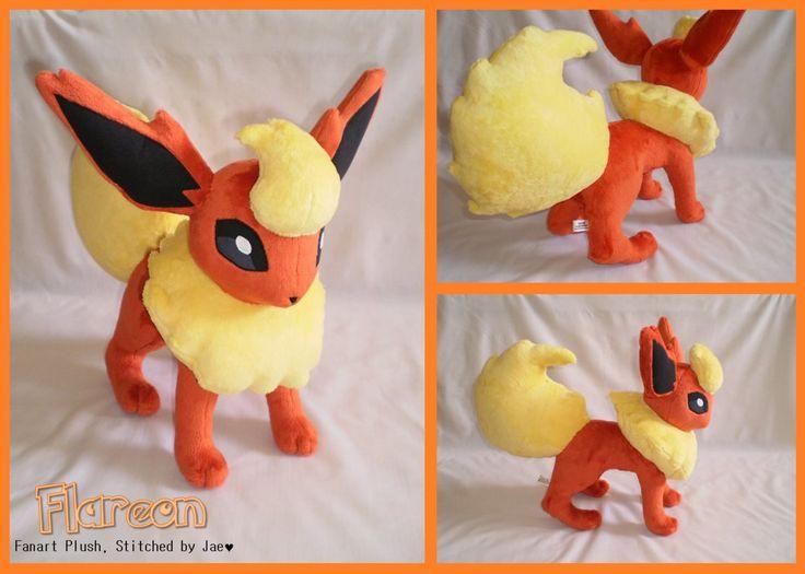 Pokemon Flareon Plush by sugarstitch