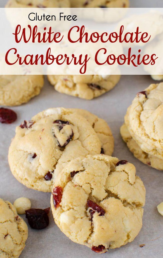 Gluten Free White Chocolate Cranberry Cookies Recipe White