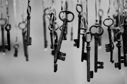 I adore Skeleton Keys...if only we could let go of all the skeletons with these...