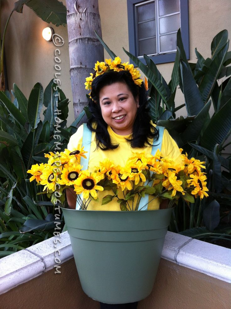 Super Cute Flower Pot Costume... Coolest Homemade Costumes                                                                                                                                                      More