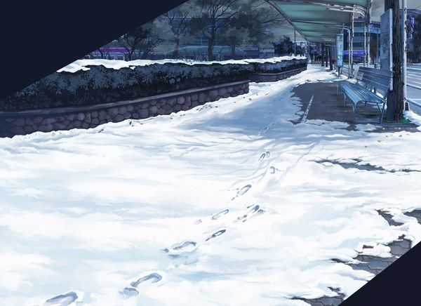 Anime scenery- snow | Anime backgrounds | Pinterest | Snow ...