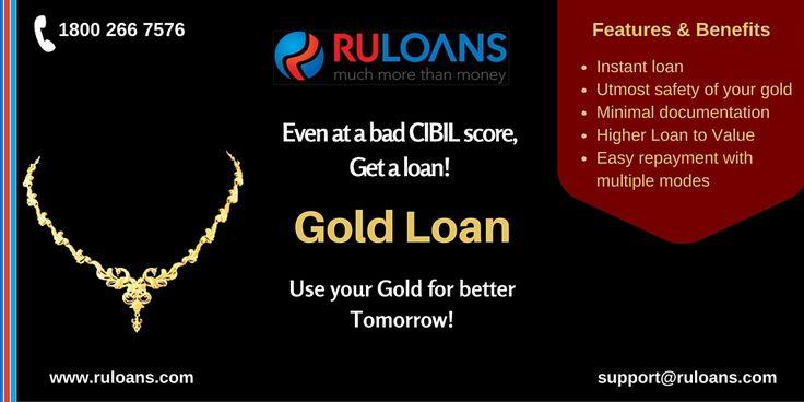 Need a Loan but have bad CIBIL Score? Get Quick #GoldLoan even at bad CIBIL Score!- #Ruloans https://www.ruloans.com/gold-loan