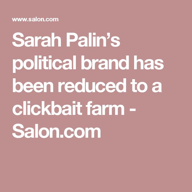 Image result for clickbait sarah palin