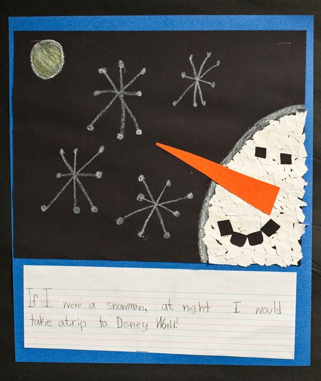 If I were a snowman at night... A class collection would make an excellent bulletin board!