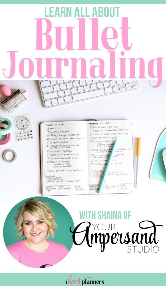 Learn all about Bullet Journaling, getting started, and how it can change your life with Shaina of Your Ampersand Studio - http://iheartplanners.com
