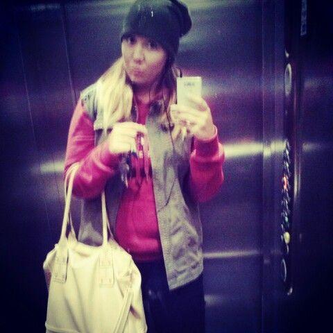 OOTD #handbag #beanie #cross #west #sweatshirt #jeans