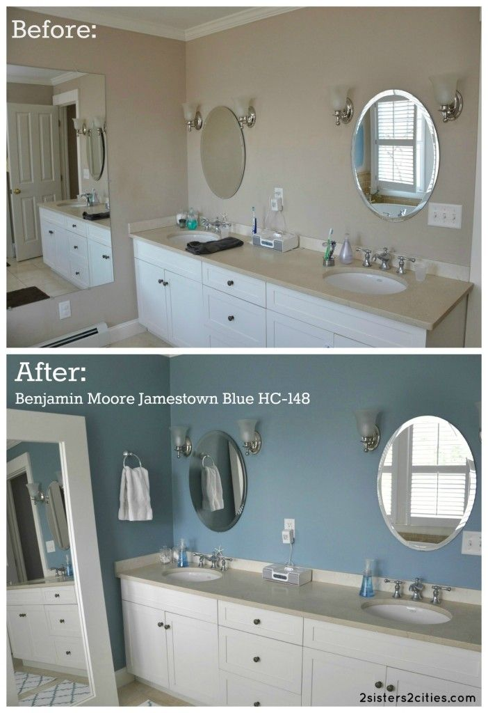 Photo Of Master Bathroom Paint Color Benjamin Moore Jamestown Blue