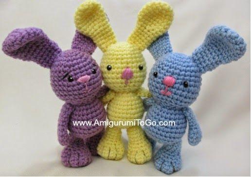 free crochet bunny rabbit pattern (FREE crochet patterns for easter bunnies)