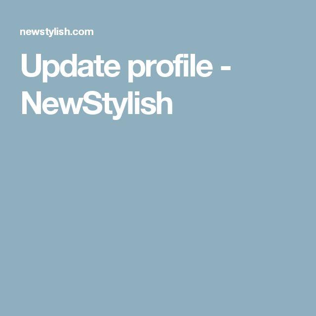 Update profile - NewStylish