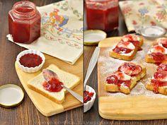 Вкусная пауза - Клубничный конфитюр с ванилью и гренки с творогом и конфитюром (к завтраку)