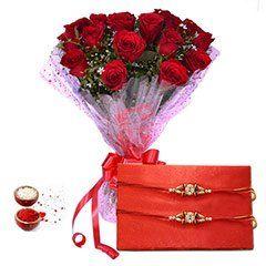 Send Red and fancy rakhi at same day delivery at rakhibazaar.com