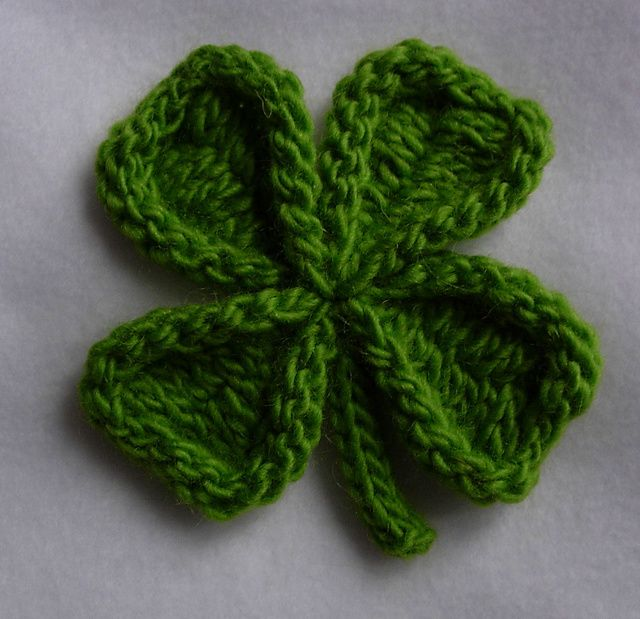 Free Crochet Patterns Four Leaf Clover : St. Patricks day knitting pattern Crochet and Knitting ...
