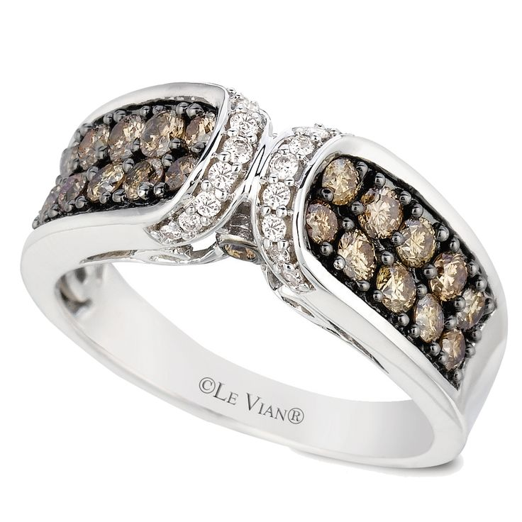 Le Vian 14K  White Gold  .93 Carat Chocolate and Vanilla Diamond Ring #levian #ring