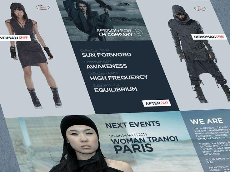 DEMOBAZA fashion site redesign